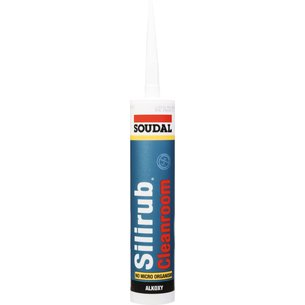 Mastic silicone neutre Silirub Cleanroom - Spécial applications critiques - Contenance 310 ml