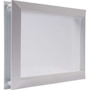 Hublot rectangulaire pour porte de garage - Dimension 225 x 380 mm