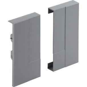 Jonction de face aluminium Advanced H70 mm (la paire)