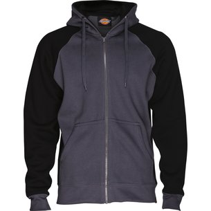 Sweat de travail zippé Two Tone - Capuche ajustable - Coton / Polyester