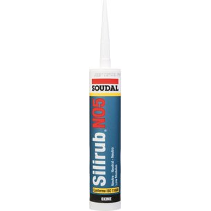 Mastic silicone Silirub N05 - Spécial joints de raccordement - Contenance 300 ml