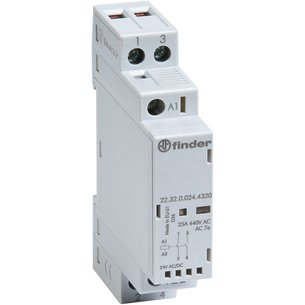 Contacteur modulaire - 1 module - Tension 24 V - Intensité 25 A-1