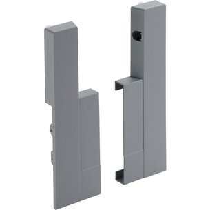 Jonction de face aluminium Advanced H144 mm (la paire)