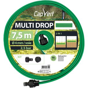Tuyau d'arrosage Multi Drop souple - Perforé - Equipé