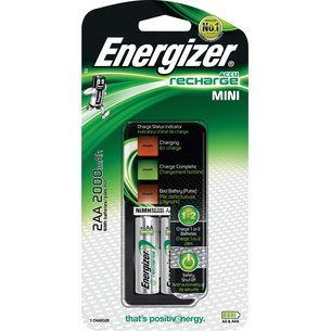 Chargeur compact Energizer pour accus AA et AAA