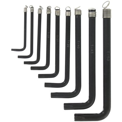 Jeu de 9 clés étoilé sur anneau Outibat - T10 à T50