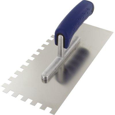 Platoir lame acier inoxydable dentée sur deux cotés Outibat - Denture de 10
