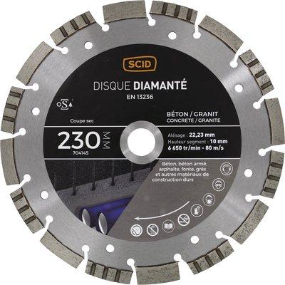 Disque diamant  béton granit professionnel ventilé- Diamètre 230 mm