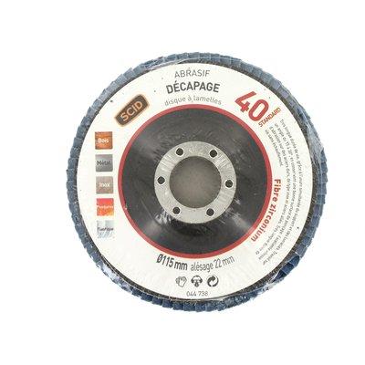 Disque à lamelles Zirconium SIA - Ø 125 mm - Grain 120