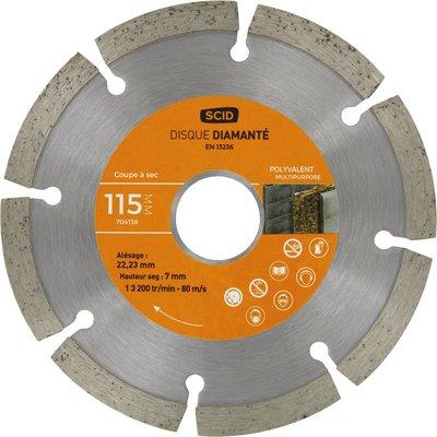 Disque diamant polyvalent standard - Diamètre 230 mm