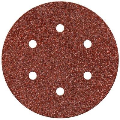 Disque abrasif auto-agrippant - Papier - Diamètre 150 mm - 6 trous