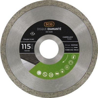 Disque diamant carrelage professionnel - Diamètre 115 mm