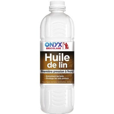 Huile de lin Onyx - Bouteille 1 l