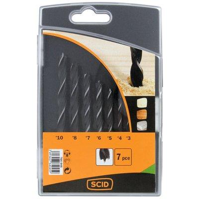 Coffret mèches bois SCID - 7 pièces