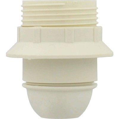 Douille E27 bakélite L'Ebénoïd - Raccord diamètre 10 mm - Blanc