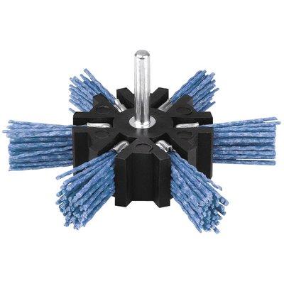 Brosse abrasive éventail - Nylon - Bleu