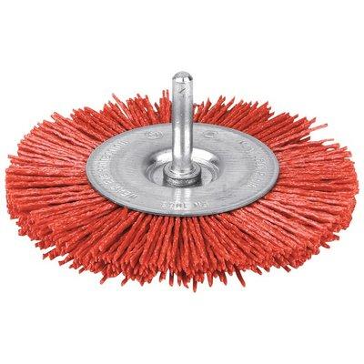 Brosse circulaire nylon rouge