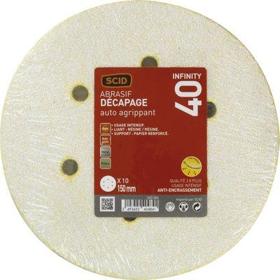 Disque auto-agrippant diamètre 150 mm 6 trous SCID - Grain 180 - Diamètre 1