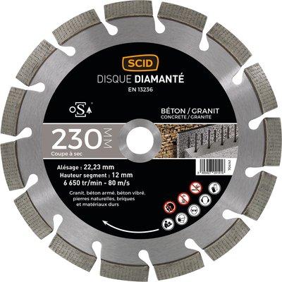 Disque diamant béton granit expert - Diamètre 230 mm