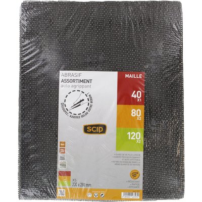 Feuille maille abrasive auto-agrippante - Dimension 230 x 280 mm