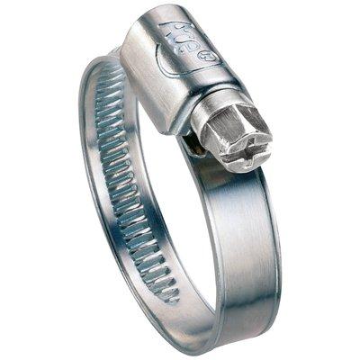 Collier de serrage W1 - Bande non perforée - Acier zingué blanc
