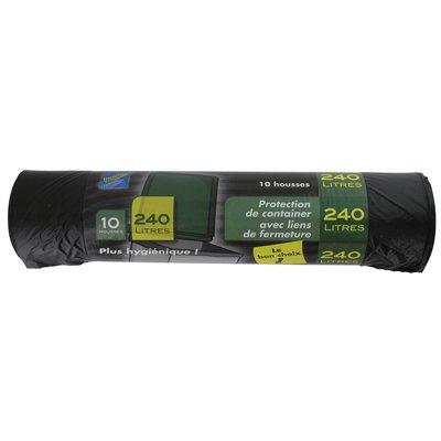 Sac poubelle noir - 100 L - Vendu par 25 - MP Hygiene