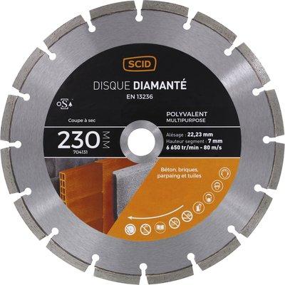 Disque diamant polyvalent professionnel segmenté