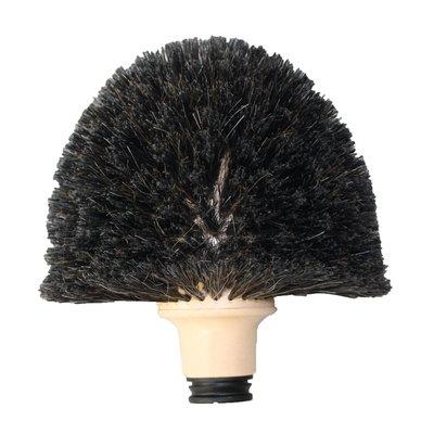 Tête de loup forme champignon - Crin noir