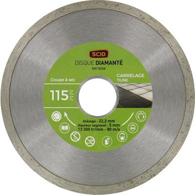 Disque diamant carrelage standard - Diamètre 125 mm
