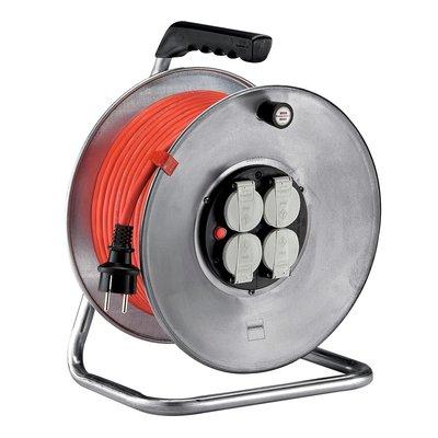 Enrouleur Silver Brennenstuhl - H07 RN-F 3G 2,5 mm² - Longueur 25 m