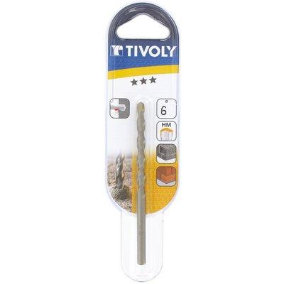 Foret à béton usage fréquent Tivoly - Longueur 100 mm - Diamètre 6 mm - Ven