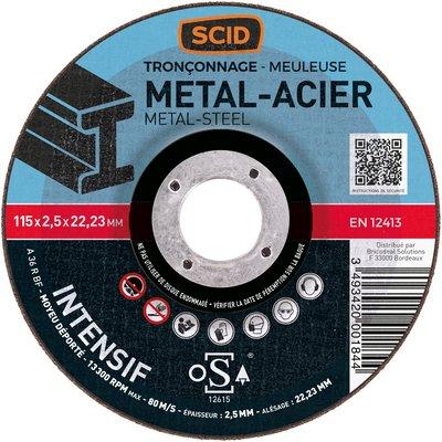 Disque à tronçonner moyeu déporté métaux professionnel - Diamètre 125 mm
