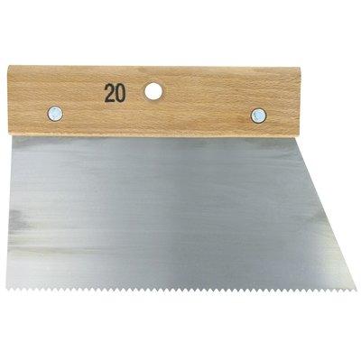 Couteau à colle Outibat - Denture pointue normale - 250 g/m² - Dimensions 2