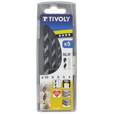 Coffret 5 forets béton pro au carbure gradué slr Tivoly