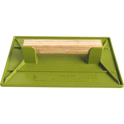 Taloche plastique ABS vert rectangulaire Outibat - Dimensions 27 x 35 cm