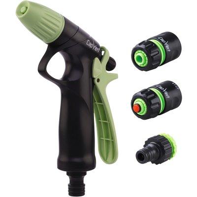 Kit pistolet d'arrosage à jet progressif ABS et raccords Cap Vert - Diamètr