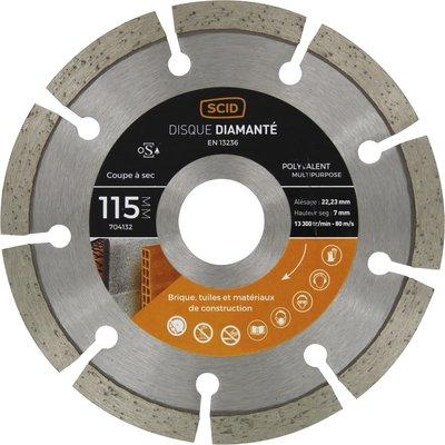 Disque diamant polyvalent professionnel segmenté  Eco - Diamètre 115 mm