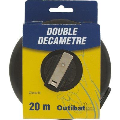 Mesure decamètre ruban fibre Outibat - Double décamètre