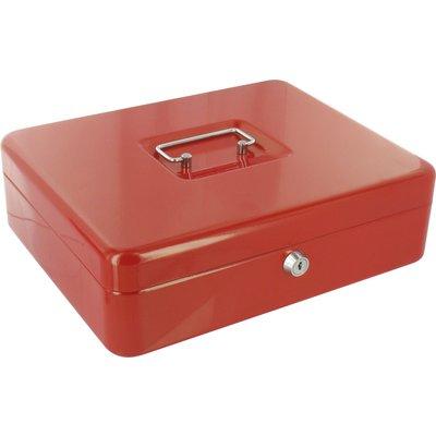 Coffret à monnaie métallique Decayeux - Rouge - Dimensions 300 mm x 88 mm x