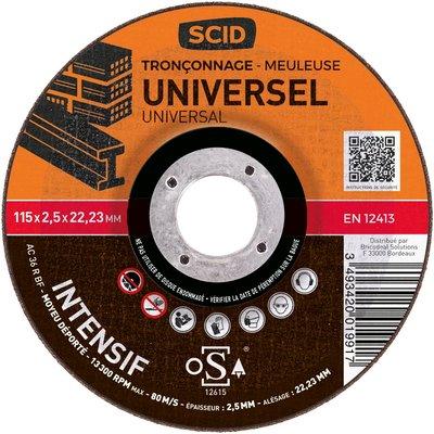 Disque à tronçonner moyeu déporté universel professionnel - Diamètre 115 mm