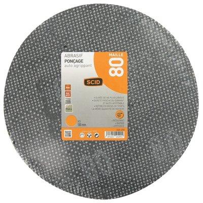 Disque maille auto-agrippant diamètre 180 mm SCID - Grain 220 - Vendu par 3