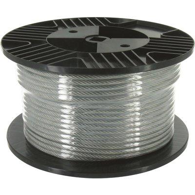 Câble acier gainé PVC Chapuis - Bobine de 50 m - Diamètre Câble 2,5 mm - Ex