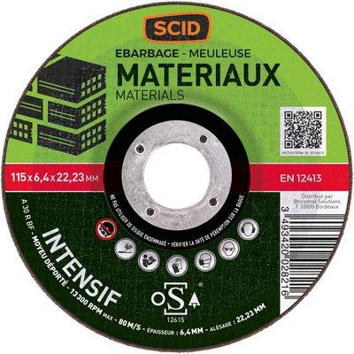 Disque à ébarber matériaux professionnel - Diamètre 115 mm