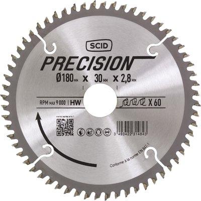 Lame au carbure pour scie circulaire SCID - Epaisseur 2,8 mm - 60 dents - D
