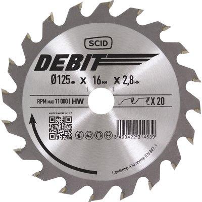 Lame au carbure pour scie circulaire SCID - Epaisseur 2,8 mm - 40 dents - D