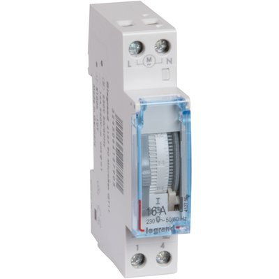 Interrupteur horaire programmable Cadran Vertical 16A 250V Jr - Legrand