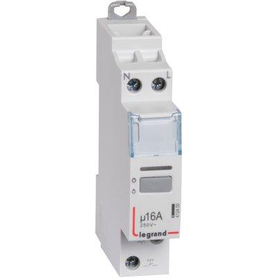Télérupteur unipolaire - Silencieux - Tension 250 V - Intensité 16 A