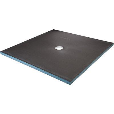 Receveur carré à écoulement centré - 900x900 mm - Wedi
