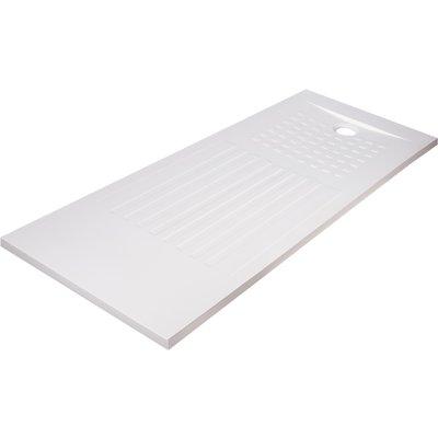 Receveur de douche rectangulaire découpable blanc - 180 x 80 cm - Oasis - C