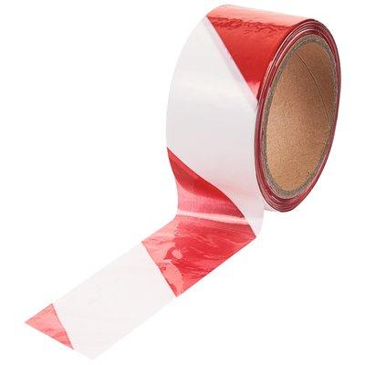 Ruban de signalisation pour chantier - Non adhésif - Rouge / Blanc - Longue